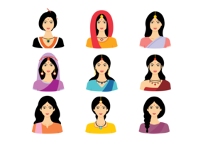Indian Frauen Vektor