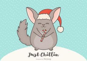 Kostenlose Vektor Weihnachten Cartoon Chinchilla