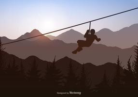 Free Vecor Zipline Hintergrund vektor