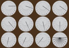 Kreisförmige Sonnenuhren vektor