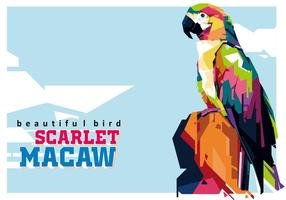 Scarlett Macaw - Der schönste Vogel vektor