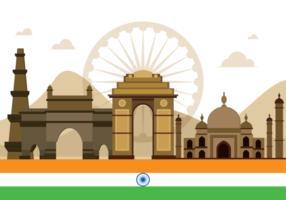 Indien Gate Vektor Illustration