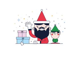 Freier Weihnachtsmann-Vektor vektor