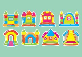Bounce Haus Symbole vektor