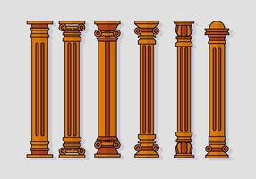 Teatro romerska pelaren vektor
