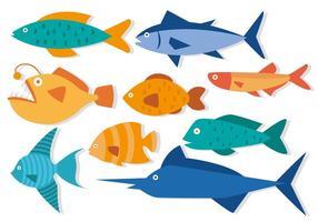 Gratis fisk i plattdesign vektor