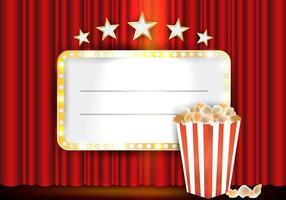 Theater Rote Vorhänge mit Blitz vektor