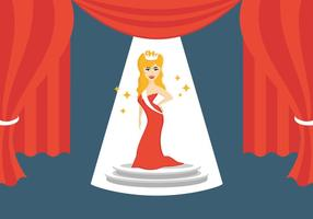 Illustration der Festzug Königin