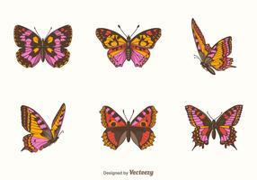 Freies Papillon Vektor Set