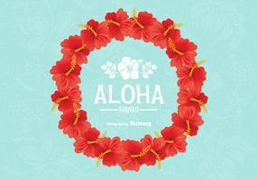 Free vector hawaiianischen lei design