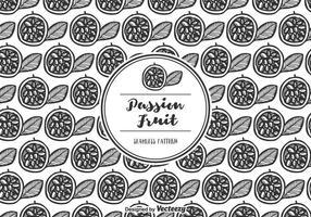 Gratis Vector Passion Fruit Pattern