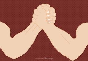 Gratis Arm Wrestling Vector Illustration