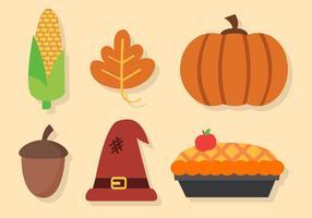 Gratis Thanksgiving Elements Vector