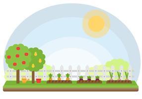 Freier Gemüsegarten Vektor