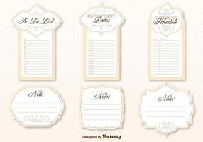Hochzeit Organizer Vorlage Vektor