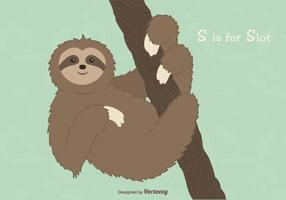Gratis Sloth Vector Illustration