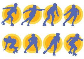 Free Roller Derby Icons Vektor