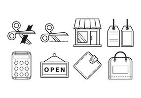 Free Opening Shop Icon Vektor