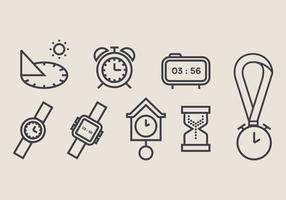 Sun Dial und Uhr Vektor Icon