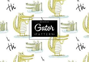 Freies Gator Pattern vektor