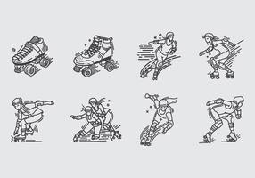 Roller derby ikon vektor