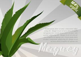 Sunburst Maguey Hintergrund vektor