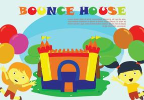 Freie Bounce Haus Illustration vektor