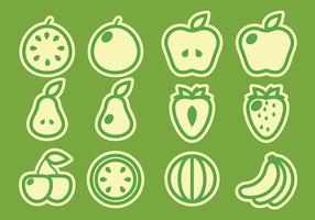 Packung von Obst-Vektoren