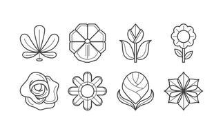 Freier Blumen-Ikonen-Vektor