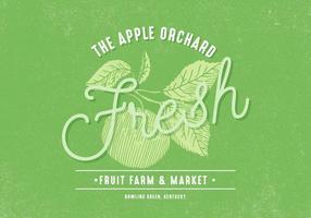 Retro Apfel Obstgarten Design