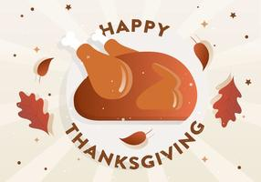 Gratis platt Thanksgiving Vector