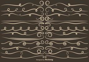 Set von VECTOR Curly Dividers