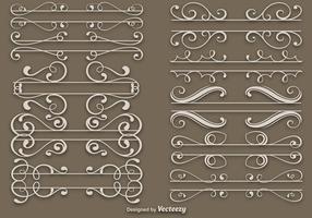 Elegante Dividers Vector Set