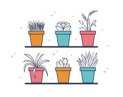 Freie Haus Pflanzen Vektor