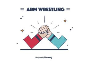 Arm Wrestling Vektor