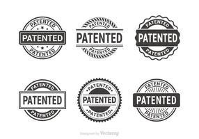 Gratis patenterade vektor gummistämplar