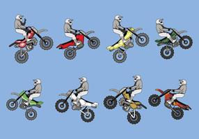 Frei dirt bikes vector