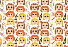 Free Girls Night Pattern Vektoren