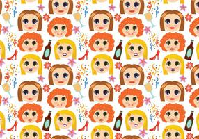 Gratis Girls Night Pattern Vectors
