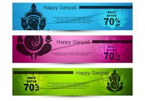 Vektor-Illustration von Ganpati Banner vektor