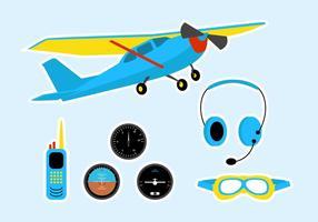 Cessna grejer vektor uppsättning