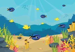 Freie Seabed Illustration vektor
