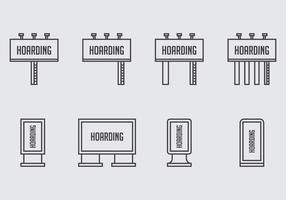 Hacking Ikoner vektor