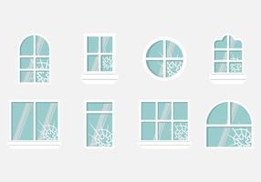 Zerbrechende Fenstervektoren vektor