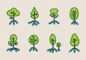Mangrove-Vektor-Symbol