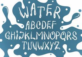 Weißes Wasser Schriftart Vektor Set