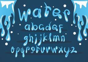 Eis Wasser Schriftart Vektor Set