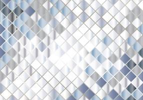 Silber Mozaic Hintergrund vektor