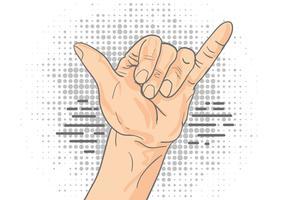 Shaka tecken gest