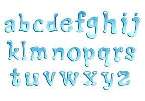 Lower Case Water Schriftart vektor